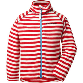 Didriksons 1913 Monte Jacket Kinder chili red simple stripe
